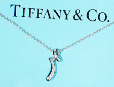 Tiffany & Co Elsa Peretti Alfabeto Letra Inicial R Collar De Plata Esterlina
