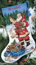 Dimensions Christmas Cross Stitch Kit  Checking His List Stocking