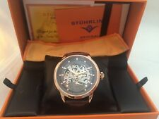 Stuhrling Original Men's Executive 133.3345K  Automatic Skeleton Watch ***NEW***