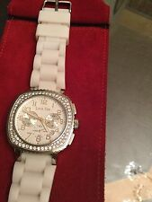 LOUIS PION Ladies WAtch with rhinestones and rubber band