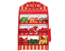 MY PICK N MIX STAND - INC. 360gms OF ASSORTED SWEETS, BAGS & TONGS - BRAND NEW
