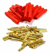 C0112 RC 2.0mm 2mm Gold Connector with Protector Housing Red x 10 Male / Female