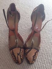 Prada snake skin effect leather shoes size 39.5