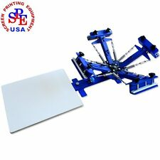4 Color 1 Station Screen Printing Machine Press Equipment Screen Kit Printer