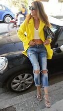 ZARA ref.2174/485 Yellow Mohair Blazer Coat with Slit  S 8 10 BNWT !!BLOGGERS!!