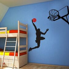 "Slam Dunk Wall Decal Michael Jordan Basketball Vinyl Boy Play Room Decor 52""x48"""