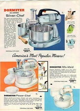 1957 AD Dormeyer All Chrome Silver Chef Electric Food Mixer Power Mix Maid