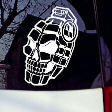 Skull Hand Grenade Weapon Military Car Truck Window Wall Vinyl Decal Sticker