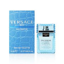 Versace Man Cologne by Versace 0.17 oz Mini Eau Fraiche for Men 5ml NEW IN BOX