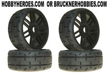 1:8 GRP GT Rubber GTX01-S1 XXSoft Tread Tires (4) Black Spoke Rims Free Ship