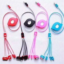Retractable Phone Connector Line 4 In 1 Charger Cable Charging Cord Multiple C
