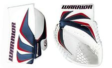 New Warrior Fortress Pro Sr goalie blocker and catcher glove ice hockey blue/red