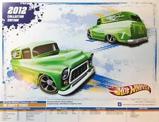 """Hot Wheels 2012 SPEC POSTER for '55 Chevy Panel KMart mail-in 8.5"""" x 11"""""""