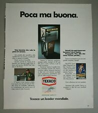Pubblicità 1972 BENZINA TEXACO AUTO CAR advertising werbung publicité reklame