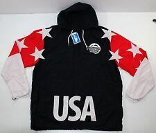 Pink Dolphin Pullover Jacket Windbreaker Half Zip 2XL USA Flag Jordan Dream Team