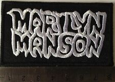 heavy metal patches iron on sew on patches music patches badges Marilyn Manson
