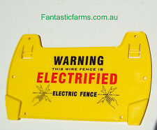 5 x Electric Fence Warning Sign...Large size UV protected