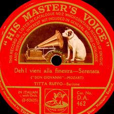 """TITTA RUFFO -BARITON- """"Don Giovanni"""" Deh vieni alla ... Schellackplatte  S9440"""