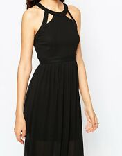 True Decadence Tall Maxi Dress With Lace Up Halter Detail In Black UK12 EU40