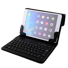 "BALCK Smart Leather Bluetooth 3.0 Keyboard Case Cover For 7"" 7.9"" ipad mini"