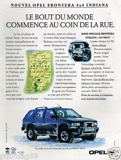 Publicité advertising 1994 Opel Frontera 4X4 Indiana