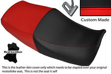 BLACK & BRIGHT RED CUSTOM FITS YAMAHA XJR 1200 95-99 1300 98-01 DUAL SEAT COVER