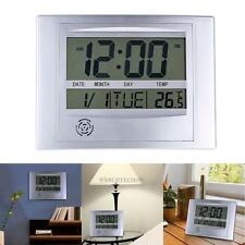 Digital La Crosse Technology Snooze Wall Clock Calendar Temperature Alarm Time