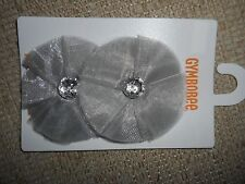 Gymboree NWT Baby Girl Holiday Shine Silver Hair barrette Accessory