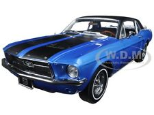 1967 FORD MUSTANG COUPE SKI COUNTRY SPECIAL VAIL BLUE 1/18 BY GREENLIGHT 12965