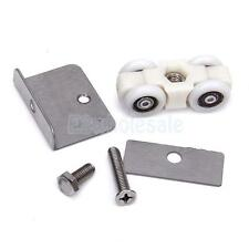 Hanging Wheel Sliding Door Roller Pulley w/ Door Clamp for Shower Screen Window