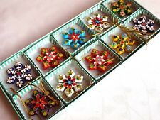 Collectibles10pcs Chinese Classic Cloisonne Christmas Snowflake Ornaments Charms