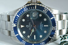 Alpha Submariner Blue Dial Blue Bezel Brand New 1 Year Warranty !!!!!