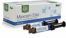 Kerr Maxcem Elite Self-Etch Self-Adhesive Resin Cement Dental !!