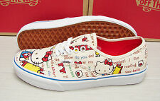 Vans Authentic Hello Kitty Red White Women's Size 7.5
