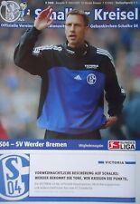 Programm 2002/03 FC Schalke 04 - Werder Bremen