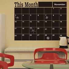 DIY Monthly chalkboard Chalk Board Blackboard Removable Vinyl Wall Sticker Decor