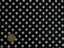 Black and white polka 5mm Dot Spotted 100% Cotton fabric  wide crafts 150 cm