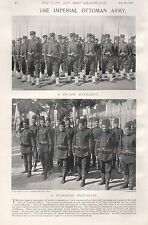 1897 ANTIQUE MILITARY PRINT-IMPERIAL OTTOMAN ARMY,ZOUAVE BATTALION,NICHANDJI BAT