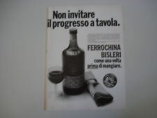 advertising Pubblicità 1976 FERROCHINA BISLERI