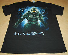 Delta Pro Weight Mens Large Graphic T-Shirt Black Halo 4 Screen Print Pre-Shrunk