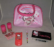 Hello Kitty Cosmetic Hand Bag Filled With Hello Kitty Make Up Goodies
