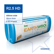 R2.5 HD | 430mm Knauf Earthwool® Acoustic Wall Insulation Batts
