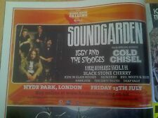 Soundgarden 2012 Hyde Park London Advert Poster Hard Rock Calling 1/2 Page Size
