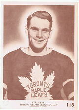 1940-41 O-Pee-Chee V301-2 Syl. Apps # 118 Toronto Maple Leafs 5 x 7 card