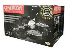 Circulon® Premier Professional Hard Anodized Nonstick 13Pc Cookware Set | Black