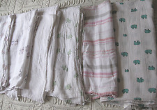Lot of 6 ADEN + ANAIS Cotton SWADDLING BLANKETS  (6)  aden anais swaddle