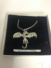 Dragon PP-G33  Emblem on Silver Platinum Plated Necklace 18""