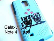 Custom glitter Otterbox Commuter Galaxy note 4 owl case