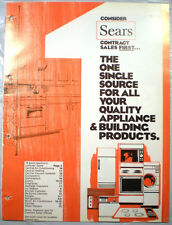 Vtg SEARS Kenmore Appliances Catalog RETRO Kitchen Ranges Oven Refrigerator 1974