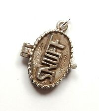 Vintage 925 Sterling Silver OPENING SNUFF LOCKET BOX Charm Pendant 4.4g